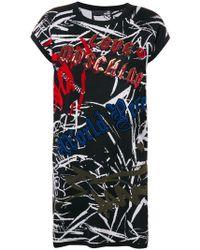 Love Moschino - Graffiti Jumper Dress - Lyst