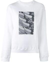 Julien David - Print Detail Sweatshirt - Lyst