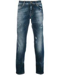Dolce & Gabbana - Faded Slim Fit Jeans - Lyst