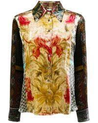 Pierre Louis Mascia - Embroidered Fitted Shirt - Lyst