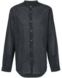 John Varvatos - Band Collar Shirt - Lyst