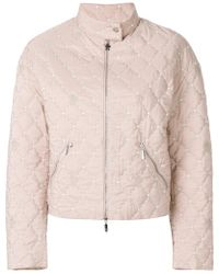 Moncler - Cropped Quilted Jacket - Lyst