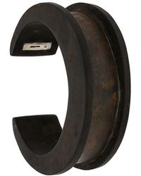 Parts Of 4 - Plate Inlay Crescent Channel Bracelet - Lyst