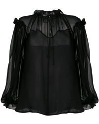 Plein Sud - Sheer Blouse - Lyst