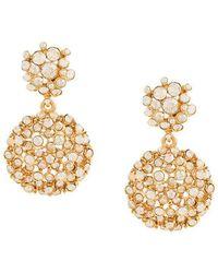 Oscar de la Renta - Mixed Jewelled Flower Earrings - Lyst