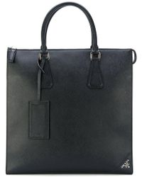 Prada - Structured Zipped Tote - Lyst