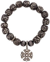 Loree Rodkin - Moroccan Bead Maltese Cross Bracelet - Lyst