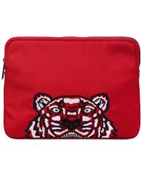 KENZO - Tiger Embroidered Clutch - Lyst