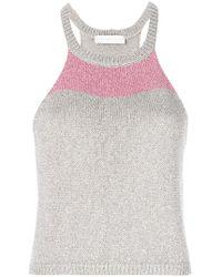 Giada Benincasa - Knitted Colour Block Top - Lyst