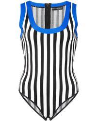David Koma - Contrast Trim Striped Body - Lyst