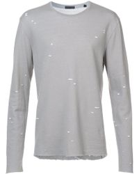 ATM - Speckled Print T-shirt - Lyst