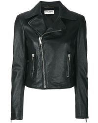 Saint Laurent - Zipped Biker Jacket - Lyst