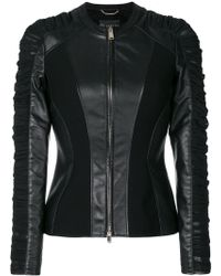 Versace - Ruched Leather Jacket - Lyst