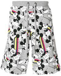 Iceberg   Mickey Mouse Jersey Shorts   Lyst