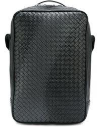 Bottega Veneta - Square Intrecciato Backpack - Lyst