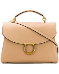 84e1dee41c5 Lyst - Ferragamo Large  lotty  Tote in Natural