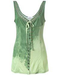 Wunderkind - Woven V-neck Dress - Lyst