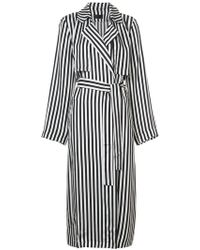 RTA - Striped Trench Coat - Lyst
