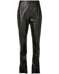 Courreges - Slit Leg Cropped Trousers - Lyst