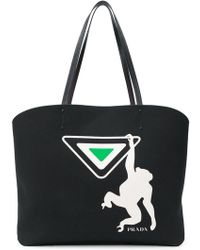Free Shipping Fast Delivery Sale Free Shipping Prada monkey colour-block tote Buy Cheap Newest byvqhs