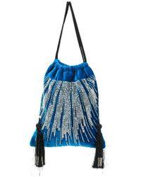 Attico - Tasseled Embellished Velvet Pouch - Lyst