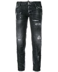 DSquared² - Distressed Cropped Jeans - Lyst
