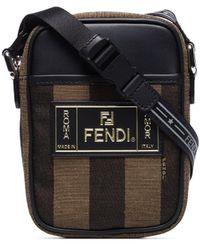 Fendi - Pequin Striped Messenger Bag - Lyst