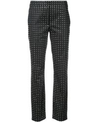 Moschino - Swarovski Crystal Tailored Trousers - Lyst