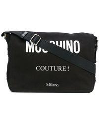 Lyst - Balmain Leather Messenger Bag in Black for Men 68d62d47cdb9d