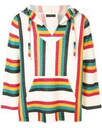 Alanui - Striped Hooded Jumper - Lyst