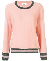 Essentiel Antwerp - Oversized Stripe Trim Sweater - Lyst