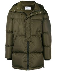 MSGM - Zipped Padded Coat - Lyst