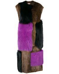 Marni - Oversized Fur Panel Coat - Lyst