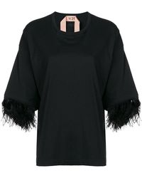 N°21 - Feather Sleeves T-shirt - Lyst