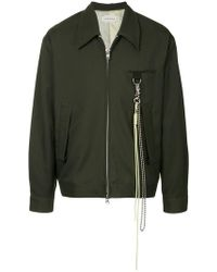 Song For The Mute - Chain Detail Shirt Jacket - Lyst