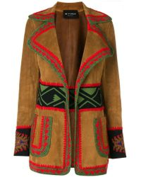 Etro - Embroidered Leather Jacket - Lyst