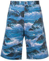 Givenchy - Waves Print Bermuda Shorts - Lyst