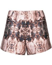 Thomas Wylde - Printed Short Shorts - Lyst