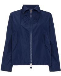 Moncler - High Neck Cropped Jacket - Lyst