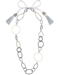 Night Market | Bead And Ring Long Necklace | Lyst