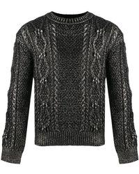 Saint Laurent - Maglione a maglia intrecciata - Lyst