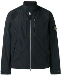 Stone Island - Windbreaker mit Logo-Patch - Lyst