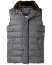 Herno - Zipped Padded Gilet - Lyst