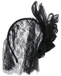 Maison Michel - Lace Veil Headband - Lyst