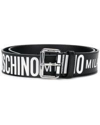 Moschino - Wide Logo Belt - Lyst
