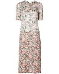 Julien David - Floral Print Dress - Lyst