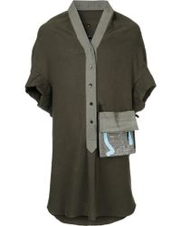 Bernhard Willhelm - Oversized Patch Pocket Shirt - Lyst