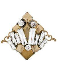 Rada' - Embellished Antique Look Brooch - Lyst