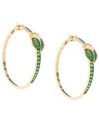 Aurelie Bidermann | Scarab Couture Tsavorite And Diamond Earrings | Lyst