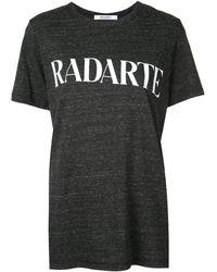 "Rodarte - T-Shirt mit ""Radarte""-Print - Lyst"